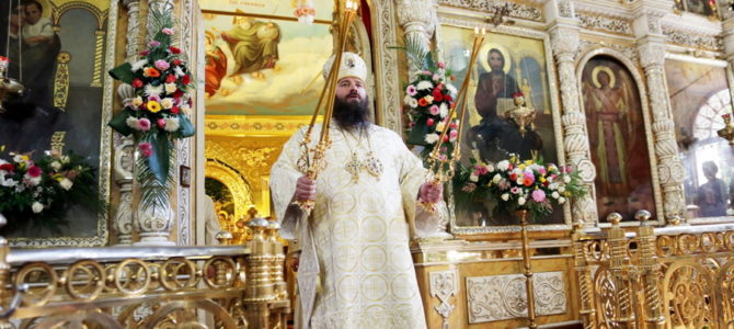 Поздравление с тезоименитством Преосвященного Парамона, епископа Бронницкого