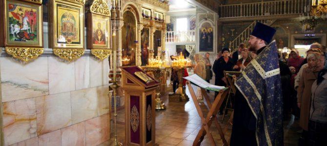 Молебен священномученику Иоанну Восторгову