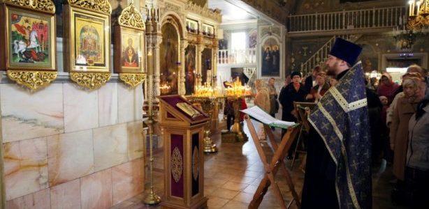 Молебен в храме Всех Святых на Соколе